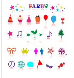Party icon vector image vector image