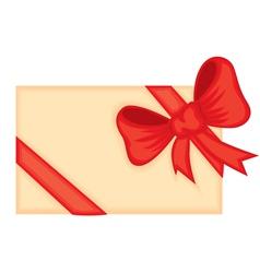 ribbon card vector image vector image