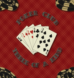 Seamless background with poker cards for vector image vector image