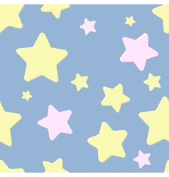 seamless pattern with night sky and stars vector image vector image