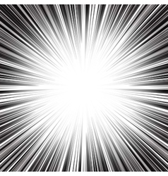 Abstract radial monochrome stripes burst vector image vector image