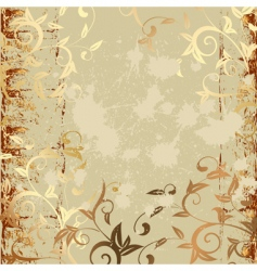 grunge pattern gold vector image vector image
