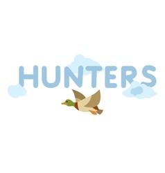 llustration of flying duck vector image
