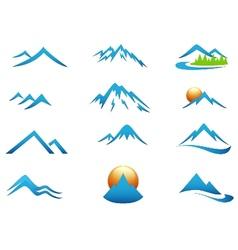 Mountain icon collection set vector image vector image