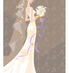 Wedding bouquet vector image vector image