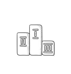 Winners podium sketch icon vector image vector image