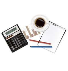 business supples with calculator vector image vector image
