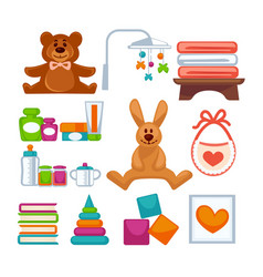 Different adorable toys vector