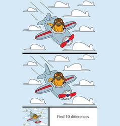 little cat puzzle vector image