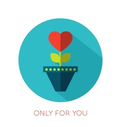 Valentines day flat isolated icon Only for you vector image vector image