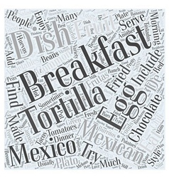 What mexico eats for breakfast word cloud concept vector