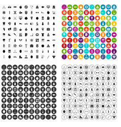 100 well person icons set variant vector