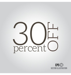 30 sale Price off icon with 30 percent discount vector