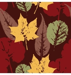 Abstract autumn seamless pattern with leaves vector