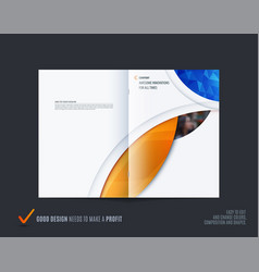 Abstract double-page brochure design round style vector