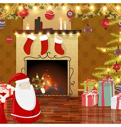 Animated Christmas Background vector image