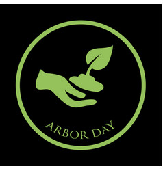 arbor day concept vector image