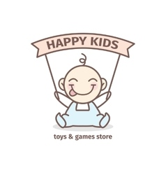 Baby logotype toys and games store logo vector