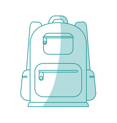 Backback icon design vector