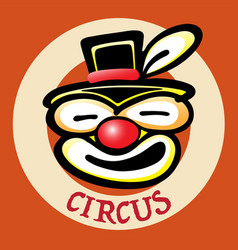 bad clown face vector image