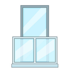 Balcony icon cartoon style vector
