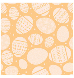 beige easter seamless pattern with eggs vector image