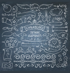 big collection chalkboard elements vector image