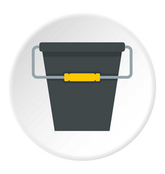 Black bucket icon circle vector