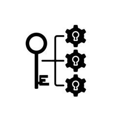 breaking down problems black glyph icon vector image