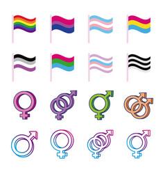 Bundle genders symbols sexual orientation vector