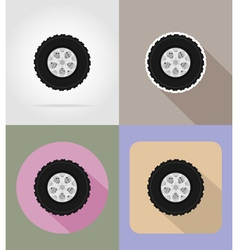 Car equipment flat icons 14 vector