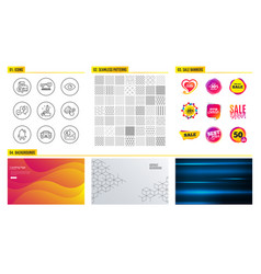 Car eye and innovation icons accounting report vector