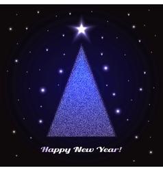 Christmas Tree Holidays vector image