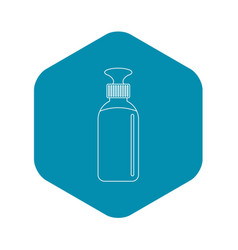 closed vial icon outline style vector image