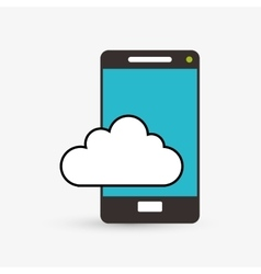 Cloud computing design Technology icon Isolated vector image