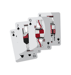 clover or clubs suit french playing cards icon vector image