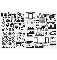 Collection of flat icons with long shadow vector