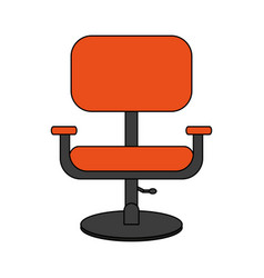 colorful image cartoon comfortable desk chair vector image