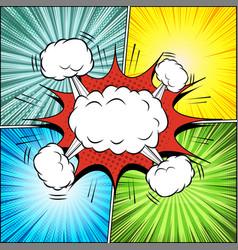 Comic page explosive concept vector