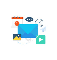 communication with email vector image