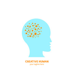 creative human logo idea vector image