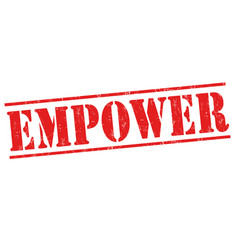 Empower sign or stamp vector