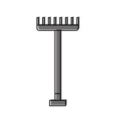 Farm rake isolated icon vector