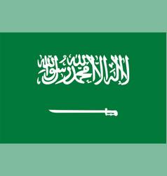 Flag saudi arabia vector