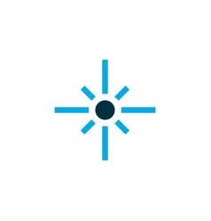 Flare icon colored symbol premium quality vector