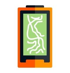 Flat navigator icon vector image