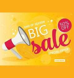 flat sale banner vector image