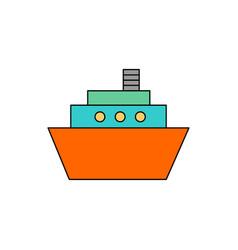 Flat ship icon vector