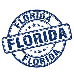 Florida blue grunge round vintage rubber stamp vector