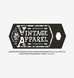 Font vintage apparel craft retro vintage typeface vector